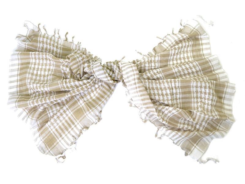 "Šátek, ""Palestina"", béžová-bílá, cca 105x105cm"