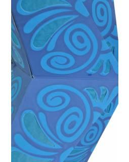 """Modrý papírový lampion hvězda """"Celtic Flower"""", 5 cípů, 60cm"""