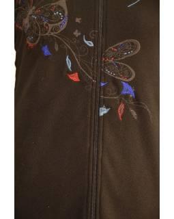 Černo-modrý oboustranný fleecový dámský kabátek s kapucí zapínaný na zip, Butter