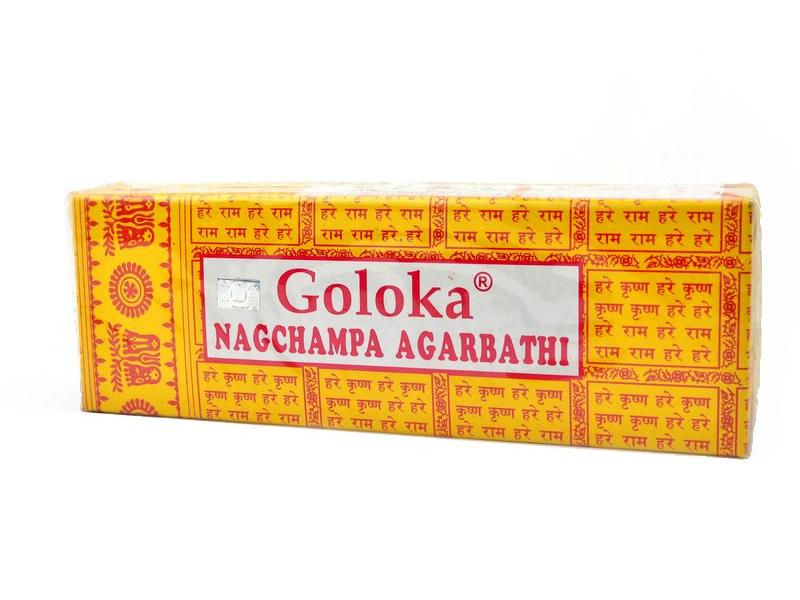 Indické vonné tyčinky Goloka Nagchampa, 150g