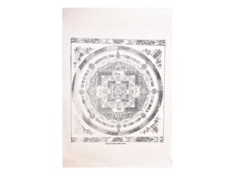 Kalachakra mandala,tisk na ručním papíru, 50x75cm