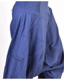 Tmavě modré turecké kalhoty s kapsou