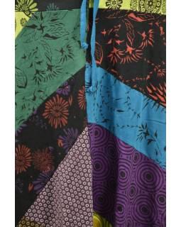 Dlouhá patchworková sukně s elastickým pasem
