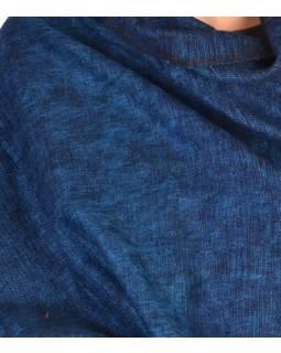 """Tibetský šál"", modro-černý melír, acrylic, 200x80cm"