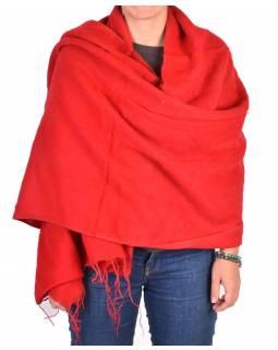 """""""Tibetský šál"""", červený, acrylic, 180x80cm"""