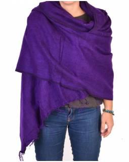 """""""Tibetský šál"""", fialový, acrylic, 180x80cm"""