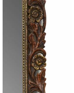 Zrcadlo v rámu z mangového dřeva, ručně vyřezané, 54x2x70cm