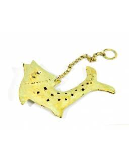 Závěsná ozdoba, zelená ryba, 13x2x14cm
