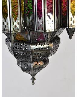 Prosklená lampa v arabském stylu, multibarevná, ruční práce, cca 27x47cm