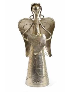 Kovová soška anděla, 9x7x18cm