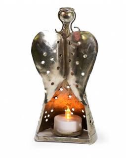 Stolní svícen, anděl, 9x7x18cm