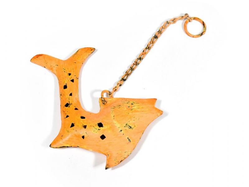 Závěsná ozdoba, oranžová ryba, 13x2x14cm