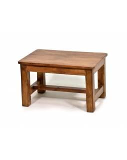 Stolek z antik teakového dřeva, 51x34x30cm