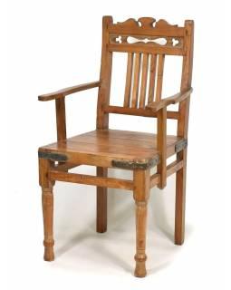 Stará židle z teakového dřeva, 51x51x92cm
