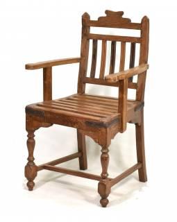 Stará židle z teakového dřeva, 51x47x90cm