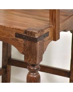 Stará židle z teakového dřeva, 50x47x86cm