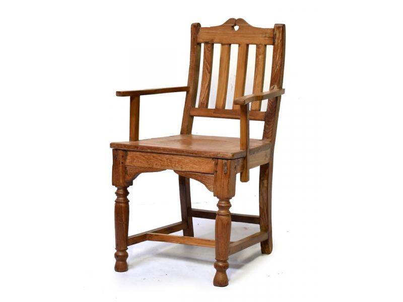 Stará židle z teakového dřeva, 49x50x84cm