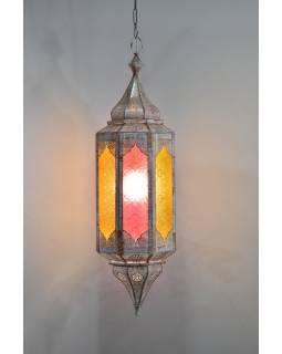 Arabská lampa, multibarevná, mosaz, ruční práce, cca 88x26cm