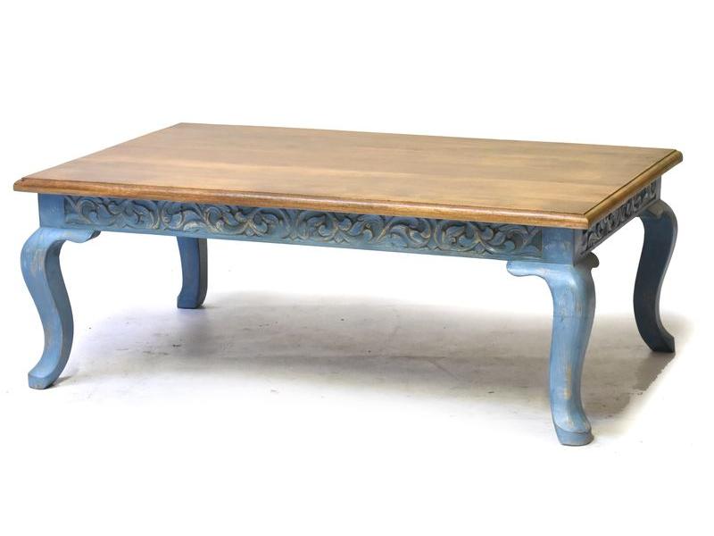 Stolek z mangového dřeva, ručně vyřezávaný, 120x76x45cm