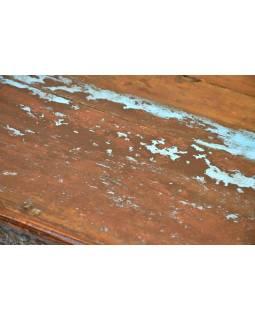 Starý stolek z teakového dřeva, 103x91x24cm