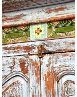 Stará skříň z teakového dřeva, 41x90x162cm