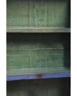 Prosklená skříň z antik teakového dřeva, 50x12x141cm