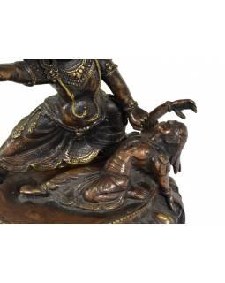 Bhimsen, kovová soška, 18 cm, mosaz