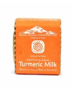 Ručně vyráběné mýdlo z Himálaje, kravské mléko a kurkuma, 100g