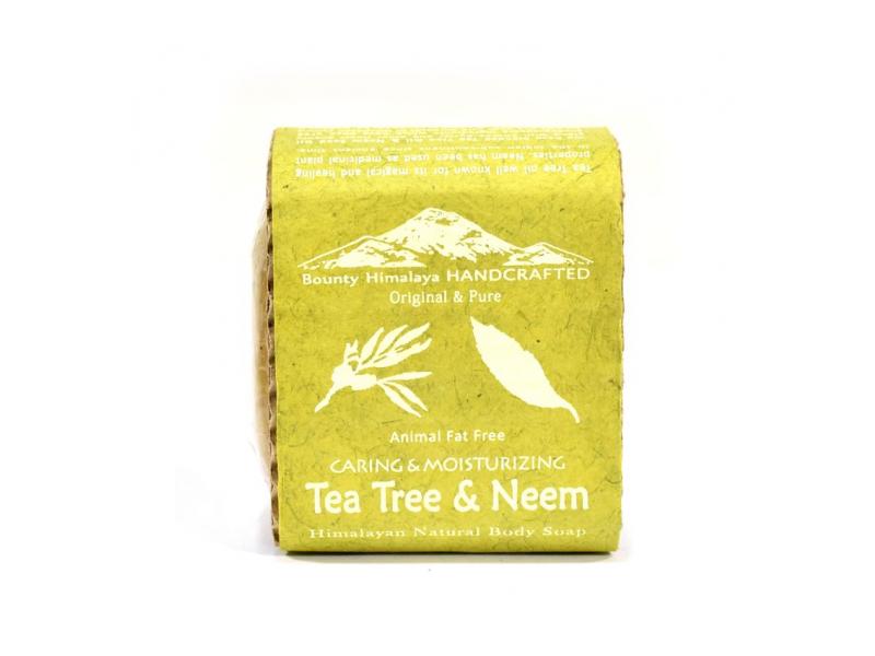 Ručně vyráběné mýdlo z Himálaje, tea tree a neem, 100g