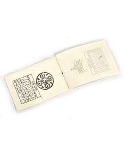Kalendář na rok 2019 ručně tisklý na rýžovém papíru, 10x15cm
