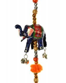 Dekorace k zavěšení, deset slonů, délka 133cm