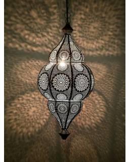 Kovová lampa v orientálním stylu,.bílá, uvnitř bílá, 22x52cm