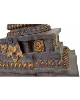 Měděná soška Avalokiteshvara - hrozivá podoba, 45cm