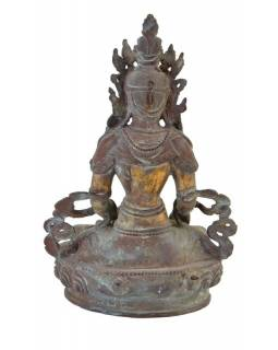 Soška, Buddha Akšobhja, měď, 22cm
