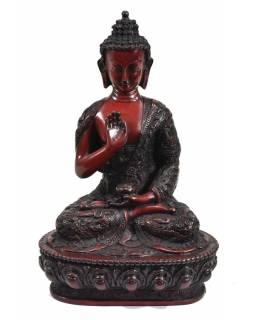 Soška Amóghasiddhi Buddha, tmavě červený, výš. 28cm