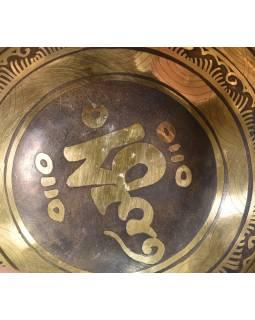 """Tibetská mísa, """"Gulpa"""", gravírovaná s designem, průměr 15cm"""