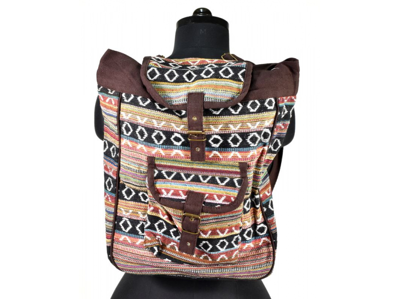 Bavlněný batoh Ghari, kapsa, cca 38x38cm