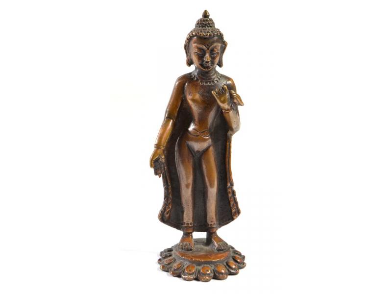 Bodhisatwa, soška malá, měď, 12,5x4cm
