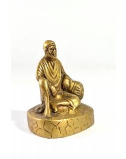 Sai Baba, soška, mosaz, 11x9cm