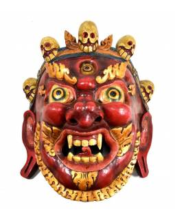 Dřevěná maska, Bhairab, ručně malovaná, 38x44cm