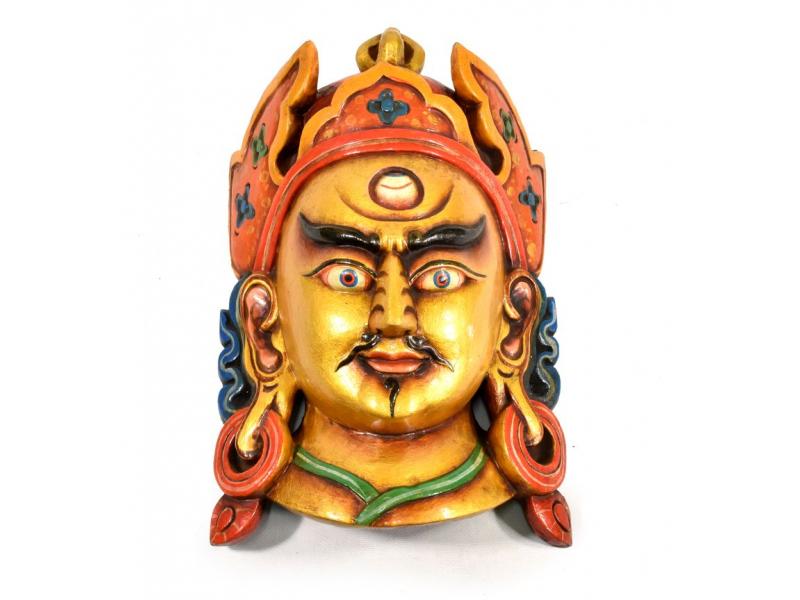 Dřevěná maska, Guru, ručně malovaná, 22x37cm