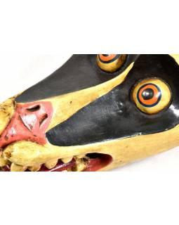 Dřevěná maska, Zvíře, ručně malovaná, 12x27cm