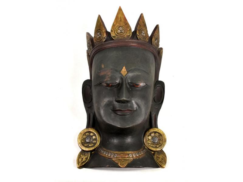 Dřevěná maska, Tara, ručně malovaná, 24x42cm