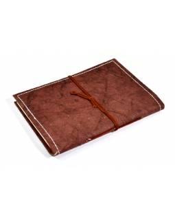 Notes vyrobený z ručního papíru, zdobený reliéfem ÓM, 13x18cm