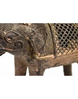 Kovová soška slona, tribal art, 16cm