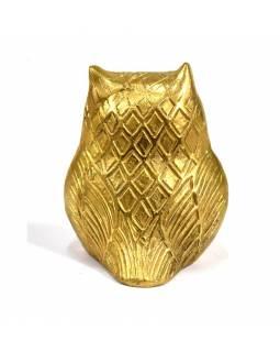 Sova, zlatá, mosaz, 8cm