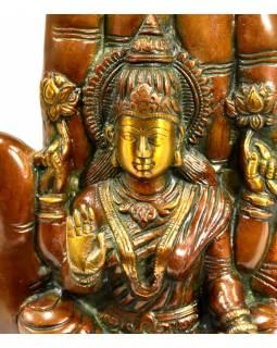 Socha Lakšmí v dlani, antik patina, výš. 23cm