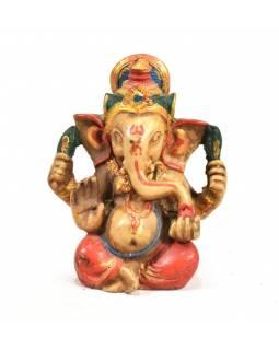 Ganesh, světlý, ručně malovaný, pryskyřice, 8cm