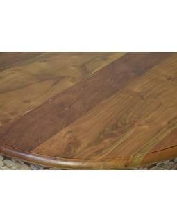 Stolek z mangového dřeva, ručně vyřezávaný, 90x90x47cm
