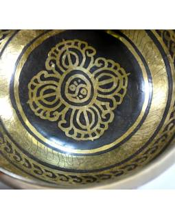 """Tibetská mísa, """"Gulpa"""", gravírovaná s designem, průměr 14cm"""